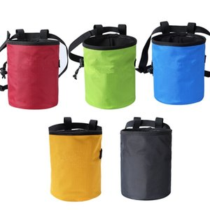 Rock Climbing Chalk Bag Mountaineering Bouldering Weightlifting Magnesium Powder Storage Pouch with Zip Pocket & Waist Belt