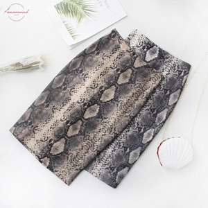 New Fall Winter Fashion Women Snake Print Skirt 2019 Casual Sexy High Waist Elegant Skirts Womens Office Lady Skirt