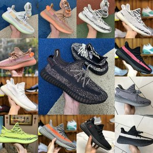 2020 New Stockx Yecheil Yeshaya Black Static 3M Reflective Kanye West V2 Sports Shoes Citrin Cloud White Synth Clay Zebra Men Women Shoes