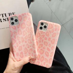 Pelle di leopardo caldo di lusso del panno del tessuto della cassa del telefono per l'iphone 11 11Pro MAX X XR XS Max 7 8 6S plus casi Lover Cuore copertura