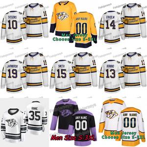 15 Craig Smith 2020 Winter Classic Nashville Predators 10 Colton Sissons 14 Mattias Ekholm 13 Nick Bonino 19 Calle Järnkrok Hockey Maillots