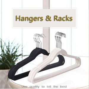 Kadife Flok Askı Kaymaz Elbise Askı Dönebilir Kanca askı No Trace Pant Askıları Windproof Çamaşır Askıları VT0404 Raf
