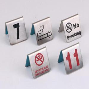 Numero 1-100 Numbers in acciaio inox Tavolo Carte No Smoking Tavolino segno di carta Ristorante Hotel Cafe Bar Strumenti