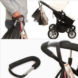 Çanta Klip D Şekli Taşınabilir Asma Alüminyum Alaşım Bebek Arabası Kanca Aksesuar Sepeti Raf Kancalar RN8034 taşır