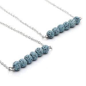 Party Mode 4Colors Natürliche Lava-Stein-Halskette für Frauen Art und Weise bördelt Ätherisches Öl Diffuser Halskette für Frauen-Schmucksachen