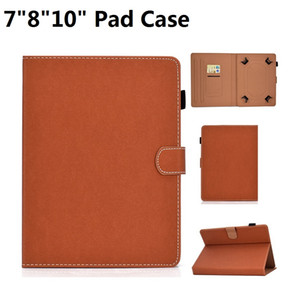 For iPad air Samsung HuaWei Tablet PC PU Leather Case With Card Slot 7inch 8inch 10inch Universal Pad Case
