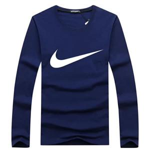 Autunno uomo T-Shirt in cotone stampa O-Collo t-shirt manica lunga da uomo Casual marca Tee Shirt ea tshirt taglia 5XL