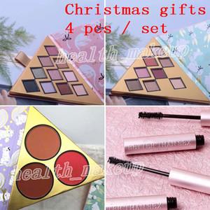 Set de maquillage pour le visage sous le sapin de Noël contient deux palettes de fard à paupières et un blush mieux que le sexe Mascara 4in1 Gifts Cosmetics