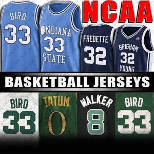 NCAA Indiana State University Larry 33 oiseaux Jersey Jayson 0 Tatum Maillots Kemba 8 Walker Basketball Jersey Vintage College Basketball Jersey