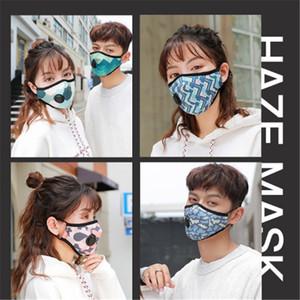 Máscara Facial com a respiração Aspirador Válvula várias cores mutável filtro Máscara Pads Dustproof pano de protecção com pacote de varejo AHC803
