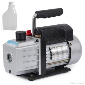 Single Stage 4CFM 1 3HP Rotary Vane Deep Vacuum Pump HVAC AC Air tool R134 R410a