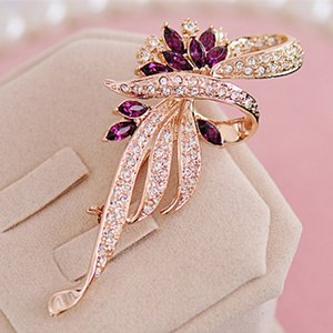 2020 Hot Sale Crystal Brooches For Women New Retro Fashion Crystal Brooches clothes pins Fashion Jewelry For Women Wholesale