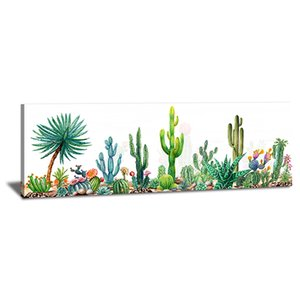 Cactus Pictures Wall Decor - Green Tropical Desert Succulent Plants Flowers Picture Painting Canvas Prints Art for Bathroom Living Room Bedr