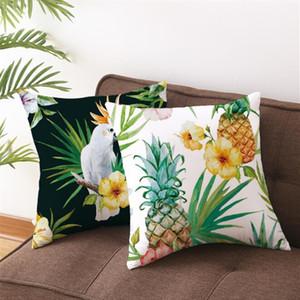 45x45cm coxim creativo lance fronha Planta Tropical fronha capa de almofada decorativa para o sofá cintura personalizado