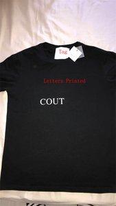 Nouvelle lettre T-shirt d'été Print hommes T-shirt mélange de coton T-shirts à manches courtes Top Casual shirt Respirant T-shirts