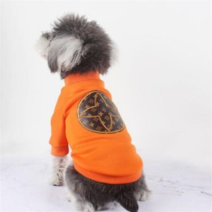 Latest Letter Embroidery Pets Hoodie Fashion Thicken Design Pet Coat Winter Festival Trendy Schnauzer Teddy Costumes