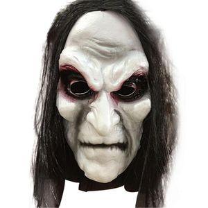 Masque Halloween Zombie Props Grudge Fantôme Zombie Masque de couverture réaliste mascarade Halloween Masque fantôme Cheveux longs masques effrayants