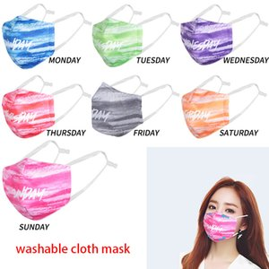 DHL 50PCS Designer Masks Washable Week Breathable Mask 3D Printied PM2.5 cloth Face Mask Filter Can Be Replaced No Filter boom2017