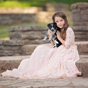 Kids Formal Dress Beautiful Flower Girl Dresses For Weddin Floor Length Junior Bridesmaid Dress For Gi