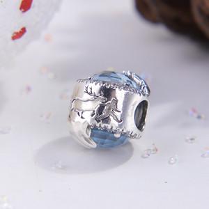 100% S925 Sterling Silver congelato cristallo invernale CZ branello di fascino europeo adatto Pandora Collana Charm Bracelet