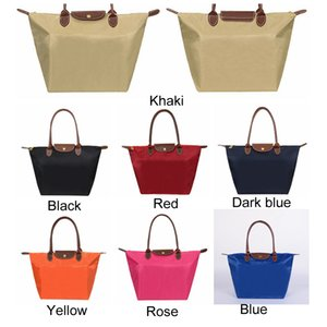 7 Colors Large Capacity Portable Shoulder Oxford Dumpling Handbag Shopping Tote Bags Top-handle Candy Color Hobos Storage Bag DH0547 T03