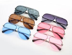 Güneş gözlüğü 2019 Moda Letter Büyük Lens Kadınlar Vintage Bir Adet Güneş Gözlükleri Kadın erkek spor güneş gözlüğü gözlük Shades UV400 gözlük
