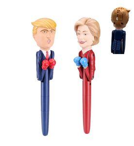 Дональд Трамп Говоря Pen Первой леди Хиллари 2020 Кандидатов бокса Pen Stress Relief Президент Pens Америка Великого Фанни игрушка E11403