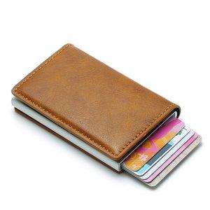 Titular DIENQI cartão RFID Homens Carteiras Bolsa de Dinheiro Masculino Preto Vintage Curto bolsa pequeno de couro slim Carteiras Mini Carteiras Fina