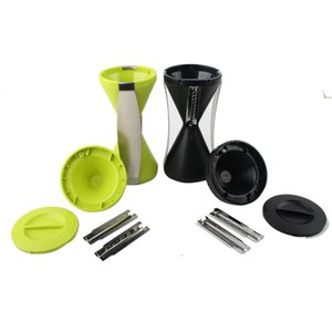 Ecologicamente 4 Lâmina vegetal espiral Slicer cortador de legumes Spiralizer Peeler Spiralizer Para cenoura Ss -D01an