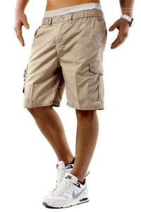 남성 스트리트 힙합 스타일 맞춤 의류 남성 카고 반바지 옴므 멀티 포켓 카프리 바지를 편안
