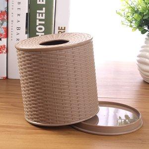 Napkin Holder Decorative Round Container Home Desktop Paper Storage Living Room Hotel Bathroom Toilet Tissue Box Gift Bedroom