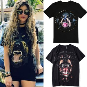 Donna Rottweiler Dog T-Shirt Ladies 2020 SS Street Tee New Stampato Shortsleeves Cotton Top Girls Buona qualità