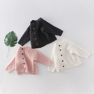 5416 New Spring Autumn Baby Girls Boys Sweater Long Sleeve Knitted Cardigan Outwear Kids Babies Sweater Coat