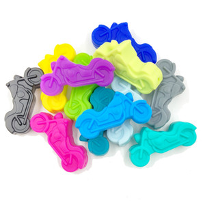 50 pz / lotto speciale dentizione moto perline in silicone reale commestibile del bambino chewing bead allentato per diy infermieristica gioielleria