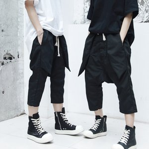 2019 spring new men's casual fashion hip hop eight pants hair stylist simple loose casual harem pants clothing
