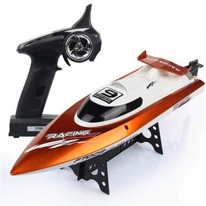 LeadingStar FT009 2.4G Double Layer Wireless Remote Control RC Racing Boat