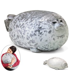 Chubby Angry Seal Pillow Blod 3D Novelty Sea Lion Doll Plush Stuffed Toy Baby Sleeping Throw Pillow Gifts for Girls 20 30 40cm