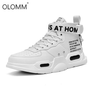 Men's High Top Fashion hococal Leather Sneakers Trend Hot Sale Comfortable Man quality Casual Shoes Outdoor Non-slip Breathable Men Shoes