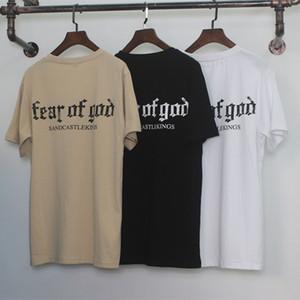 La crainte de Dieu T-shirt Homme Femme Coton FOG Justin Bieber Vêtements Fearofgod t-shirts Nomad Top T-shirts La peur Mode de Dieu T-shirt fz0152
