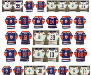 Edmonton Vintage Jersey 10 Esa Tikkanen 9 ULLMAN 14 VALE SATHER 1 EDDIE MIO 12 Dave Hunter 3 AL HAMILTON 39 Doug Weight CCM hóquei
