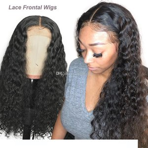 A Lace Front Human Hair Wigs Deep Wave Lace Frontal Wigs Pre Plucked With Baby Hair For Black Women 150 %Density Remy Hair