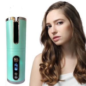 USB تنعيم الشعر لاسلكي الشحن التلقائي بالكامل الشباك عصا كبيرة موجة يصب الكهربائية بكرو الشعر التلقائي دي إتش إل الحرة