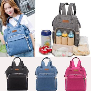 Newest Mommy Backpack Nappies Bags Fashion Mother Maternity Multifunction Diaper Backpacks Large Volume Outdoor Travel Bags 7 Color WX-B29