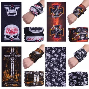 2 Set Lot Men Women Outdoor Sport Camping Hiking Scarves Cycling Arm Warmers Bicycle Head Skull Scarf Magic Headband Face Mask Snood#125