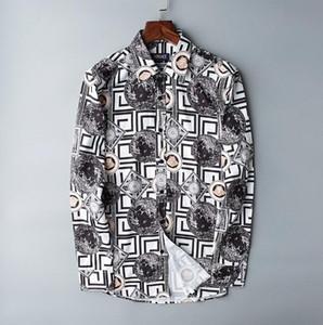 2019 브랜드 남성 비즈니스 캐주얼 셔츠 남성 긴 소매 스트 라이프 슬림 맞는 masculina 사회 남성 티셔츠 새로운 패션 남자 # 308 셔츠를 확인