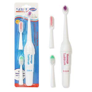 3 fırça kafalarının su geçirmez Taşınabilir temizleme aleti batarya dahil toptan ile sıcak satış Döner elektrikli diş fırçası yetişkin