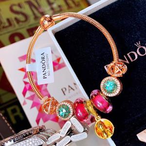 Pulseira de designer Pulseira Pandoraed Pulseira de prata Diamante Gemstone Decoração Pandora 2019 Acessórios de moda de luxo Embalagem Caixa de presente