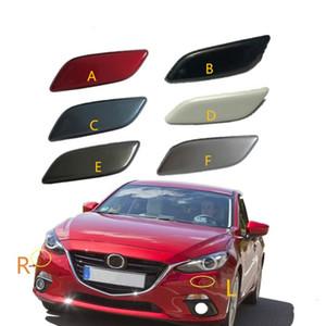 Para Mazda Axela 3 M3 2014 2015 2016 Frente faros Caperuza de pulverización cubierta de la boquilla LAVAFAROS