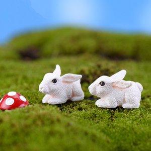 مصغرة 10PCS لطيف قليلا أرنب أبيض مستلزمات ديكور الطحلب المشهد الصغير الحرف اليدوية الديكور حديقة ديكو الإبداعية