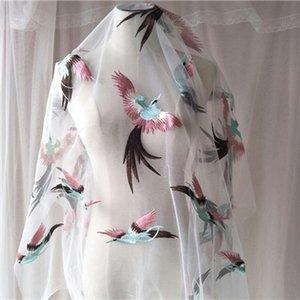 tecidos de moda high-end exclusivos fio Net tecidos rendas tecido bordado de flores de seda bud para Dress DIY